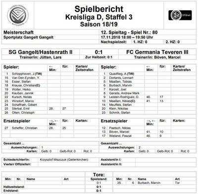 Teveren2-50Spielbericht