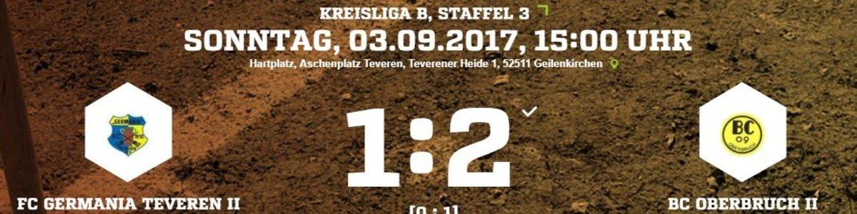 Germania II unterliegt Aufsteiger Oberbruch II mit 1:2