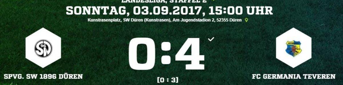 Perfekter Start für Germania. Nach dem 4:0 bei SW Düren Tabellenführer