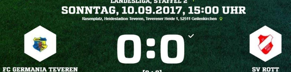Germania I nach dem 0:0 gegen Rott weiter ohne Niederlage