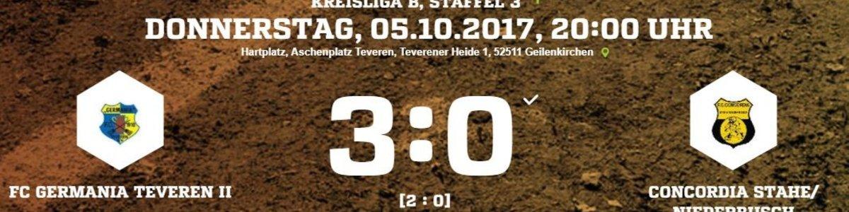 Germania II siegt im Nachholspiel gegen Stahe/Niederbusch 3:0