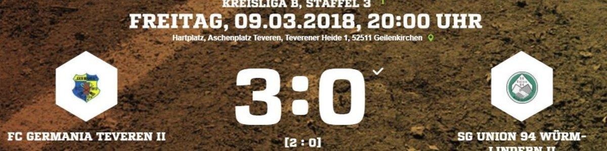 Gelungener Auftakt für Germania II - 3:0 gegen Würm/Lindern II