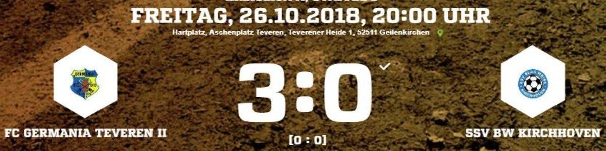 3 späte Tore bringen den Sieg im Aufsteigerduell für Germania II gegen Kirchhoven