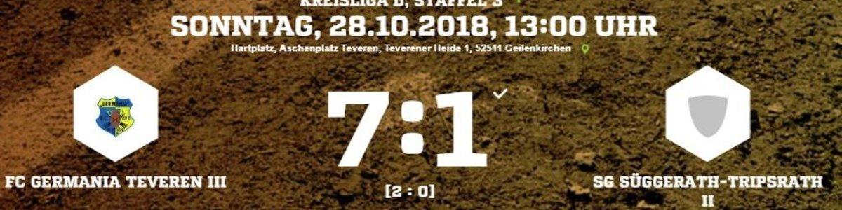 Germania Germania III gegen Schlusslicht Süggerath/Tripsrath am Ende deutlich 7:1
