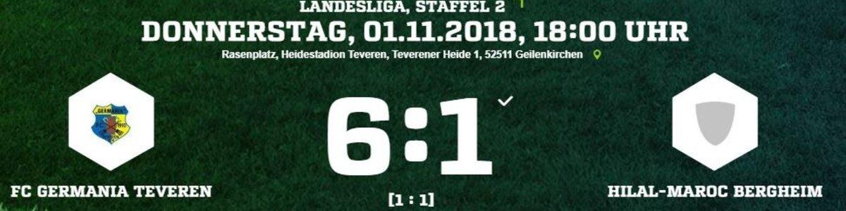 Nach Rückstand dreht Germania auf. 6:1 gegen Maroc Bergheim