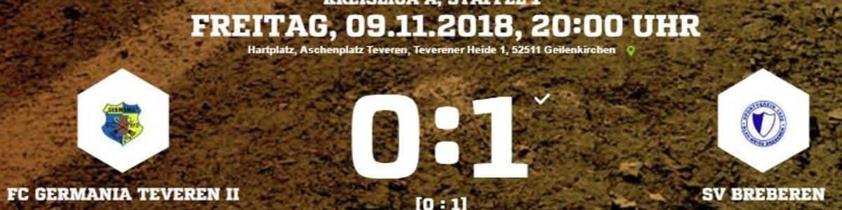Germania II unterliegt Breberen im Kellerduell