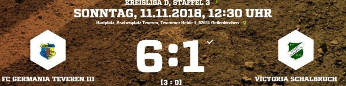 Germania III gegen Schalbruch mit klarem 6:1 Sieg