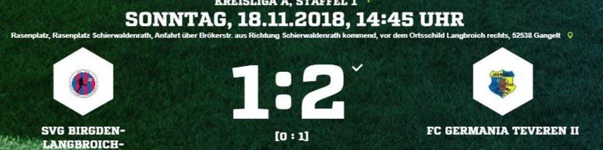 Germania II gewinnt in Birgden/Langbroich/Schierwaldenrath 2:1