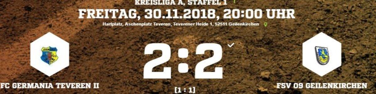 Geilenkirchen trifft in der 95. Minute zum Ausgleich bei Germania II