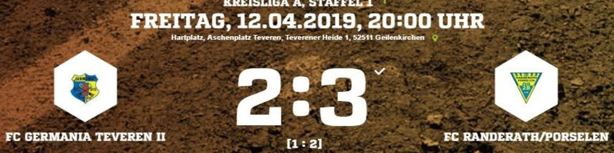 Spätes Gegentor sorgt für die 2:3 Niederlage von Germania II gegen FC RaPo