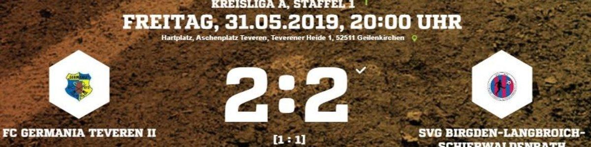 Germania II verpasst die vorzeitige Rettung - 2:2 gegen Birgeden/Langbroich