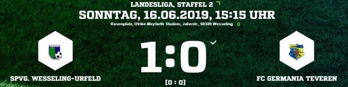 Germania I unterliegt beim Meister Wesseling/Urfeld knapp mit 0:1
