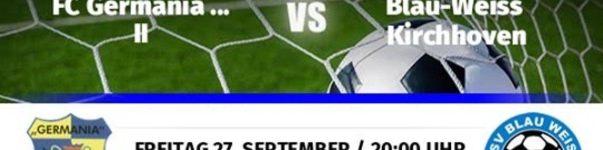 Germania II spielt 3:3 gegen Schlusslicht Kirchhoven