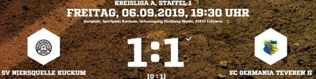 Halbzeitführung reicht nicht. Germania II 1:1 in Kuckum