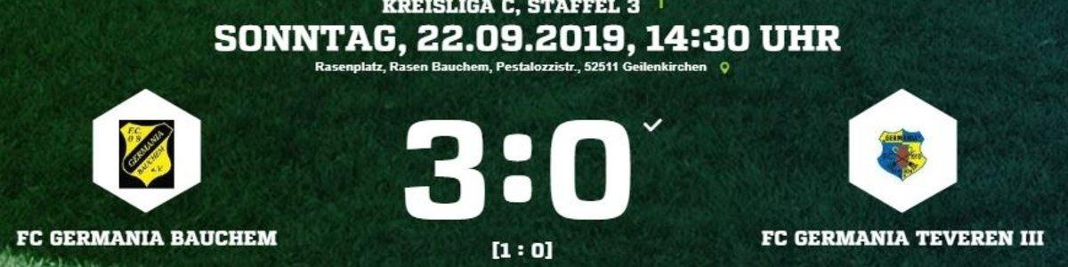Germania III unterliegt 0:3 beim Topfavoriten Bauchem