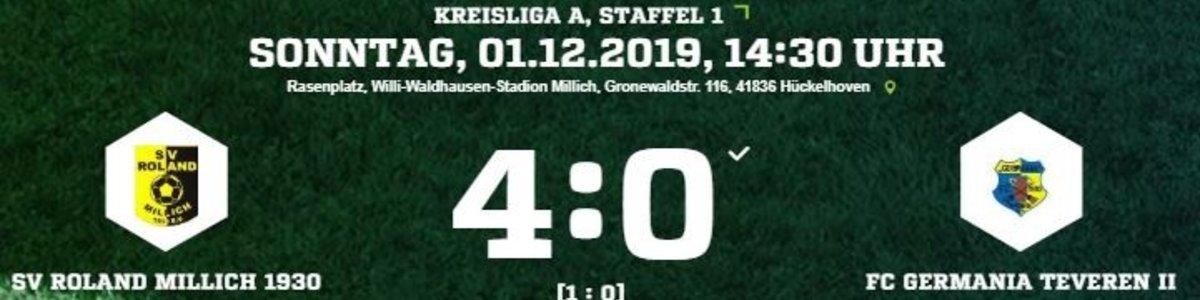 Germania II unterliegt beim Tabellenführer Millich 0:4