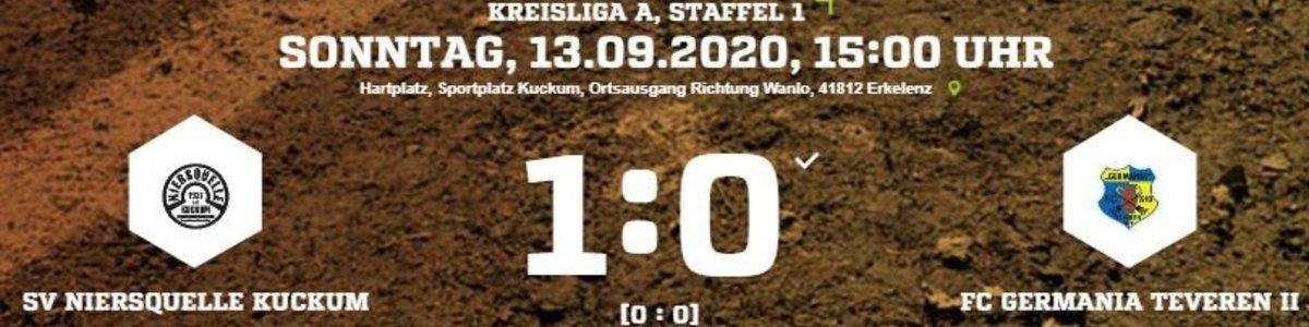 Niederlage für Germania II bei Niersquelle Kuckum