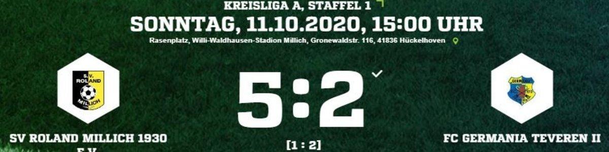 Germania II nach 2:1 Führung 2:5 beim Topteam Roland Millich