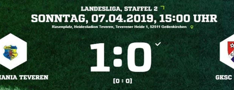 Germania I auch gegen Hürth erfolgreich. 1:0 bringt Sprung auf Platz 5