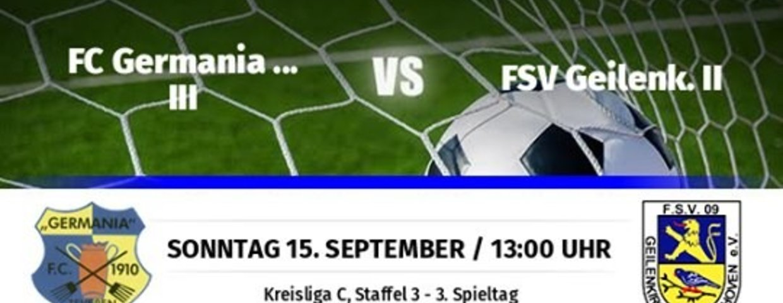 Germania III holt den ersten Sieg nach 0:2 Rückstand - 4:2 gegen Geilenkirchen II