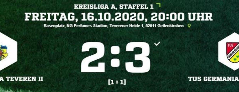 Spätes Gegentor für Germania II beim 2:3 gegen Germania Kückhoven