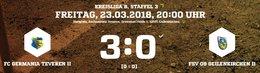 Drei späte Tore sichern den 3:0 Derbysieg gegen Geilenkirchen