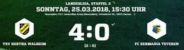 Germania unterliegt in Walheim 0:4