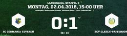 0:1 Niederlage gegen Glesch durch ein Tor kurz vor dem Ende
