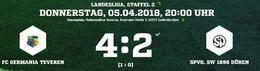 Germania dreht das Spiel in den letzten 10 Minuten