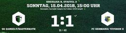 Germania II gleicht in der Nachspielzeit aus. 1:1 in Gangelt/Hastenrath