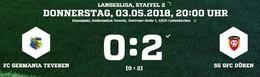 Germania verliert das Nachholspiel gegen GFC Düren 0:2