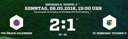 1:2 in Übach ist ein Rückschlag im Aufstiegsrennen für Germania II