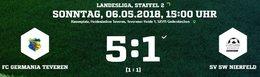 Germania I mit dem nächsten klaren Sieg. 5:1 gegen Niefeld.