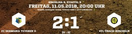 Germania II gewinnt das Topspiel in letzter Minute