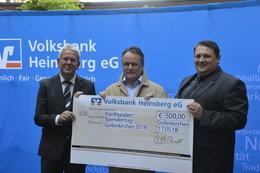 500 Euro von der Volksbank als Belohnung für unser Engagement
