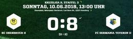 Germania II steigt in die A-Liga auf - 8:0 Sieg in Oberbruch