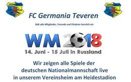 Alle Spiele der WM Live im Vereinsheim am Heidestadion