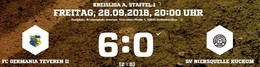 Germania II mit dem ersten Saisonsieg. 6:0 gegen Kuckum